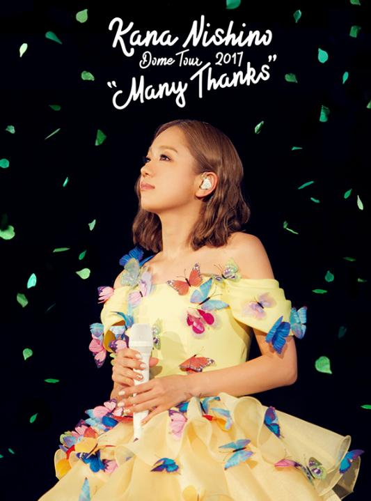 "Kana Nishino Dome Tour 2017 ""Many Thanks"" DVD"