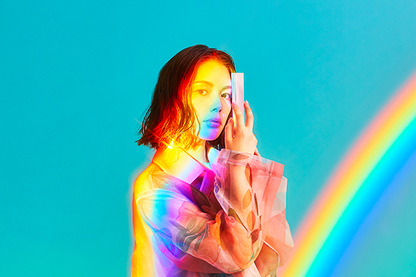 Rei Yasuda digital single dazzling tomorrow promotional picture